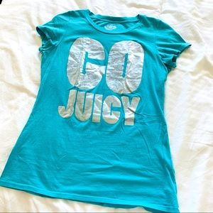 JUICY COUTURE l Teal Blue Tee Shirt